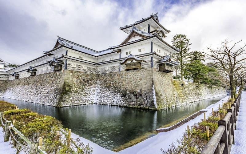 Kanazawakasteel in de Winter royalty-vrije stock foto's