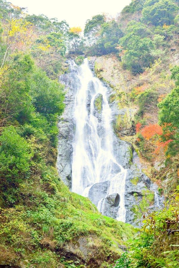 Kanba瀑布特写镜头在冈山 免版税图库摄影