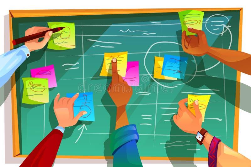 Kanban board for agile scrum vector illustration royalty free illustration