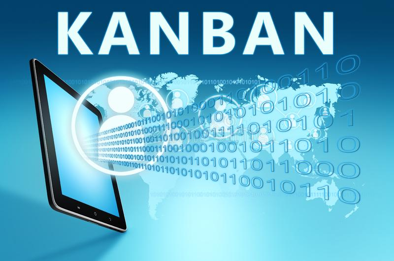 Kanban ilustração stock