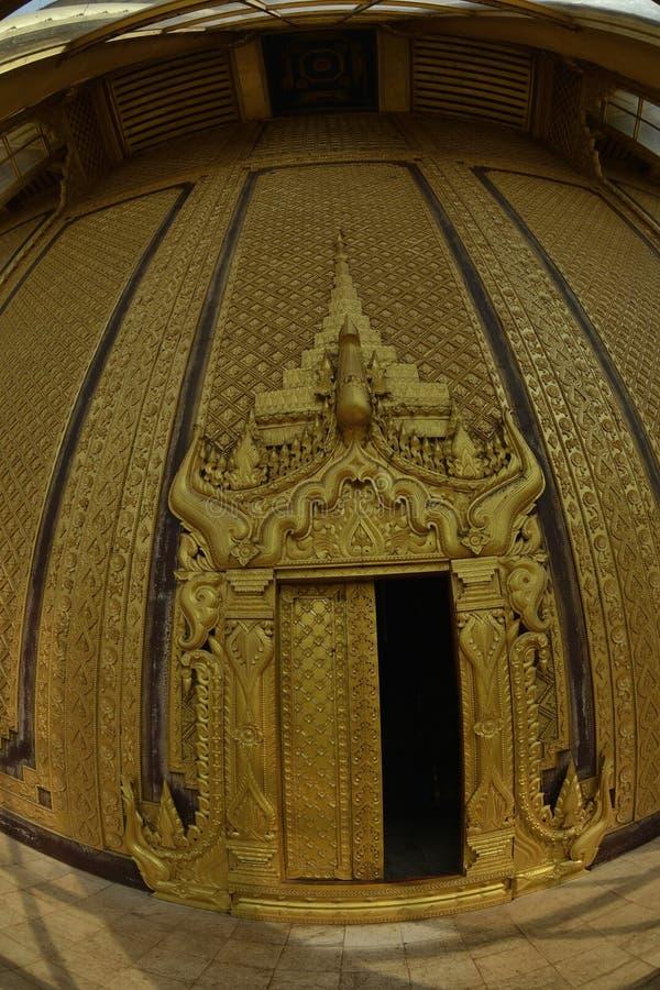 Kanbawzathadi宫殿在Bago 库存照片