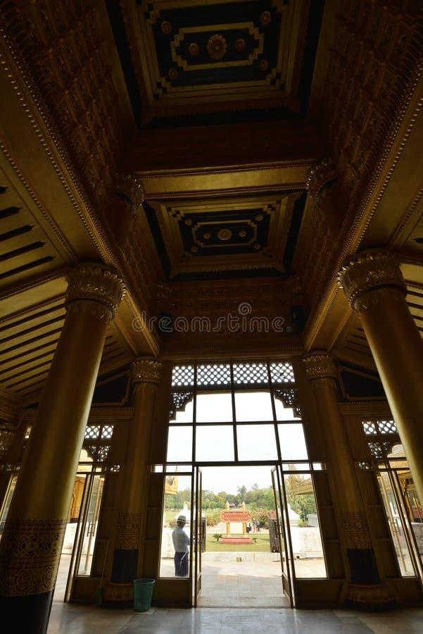 Kanbawzathadi宫殿在Bago 免版税图库摄影