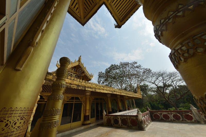 Kanbawzathadi宫殿在Bago 免版税库存照片