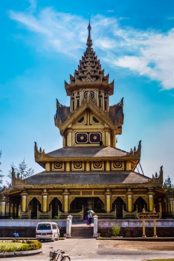 Kanbawzathadi宫殿,Bago,缅甸 图库摄影