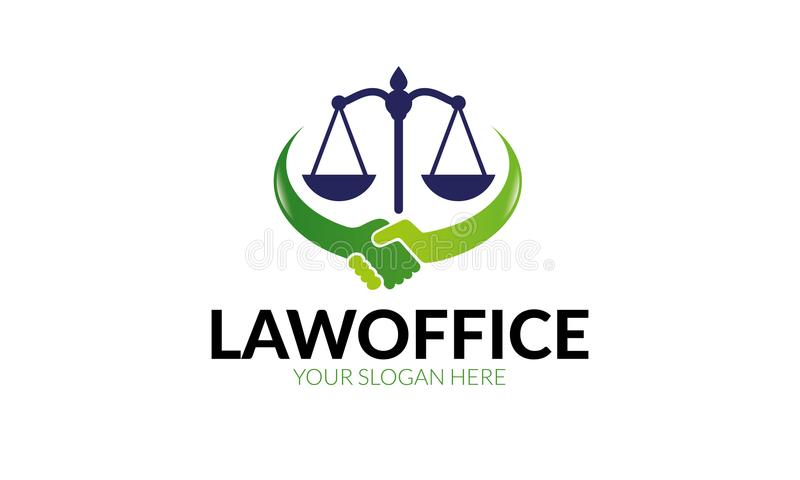 Kancelaria prawna loga szablon ilustracji