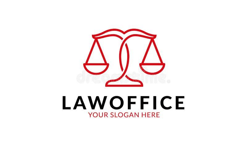 Kancelaria prawna loga szablon ilustracja wektor
