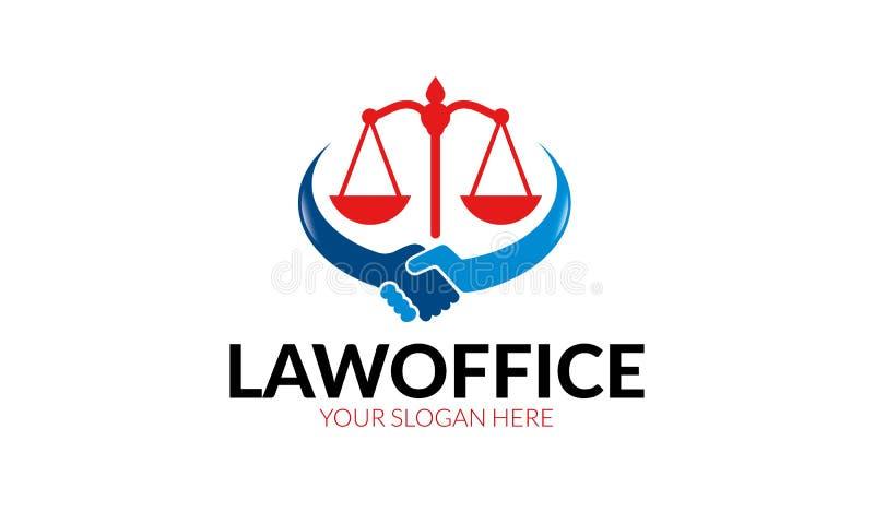 Kancelaria prawna loga szablon royalty ilustracja