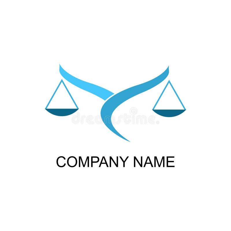 Kancelaria prawna logo Sędzia, firma prawnicza loga szablon, prawnik ustawiający rocznik etykietki royalty ilustracja