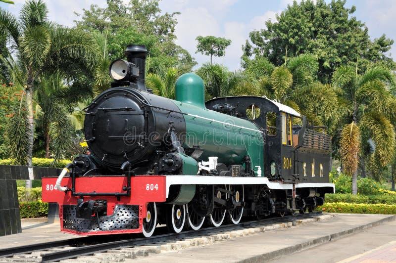 Kanchaburi, Thailand: Vintage Steam Engine royalty free stock photos
