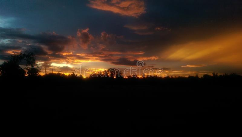 Kanchanaburi Sunset royalty free stock images