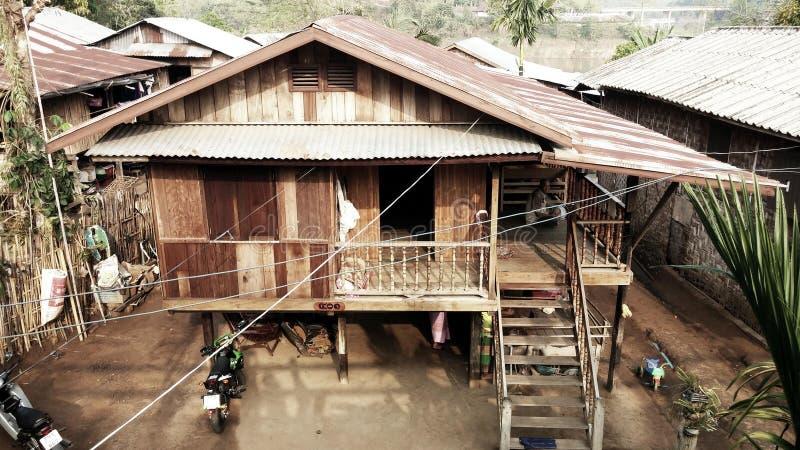 Kanchanaburi, Thailand - April 09 2014: Traditional Thai House stock photo