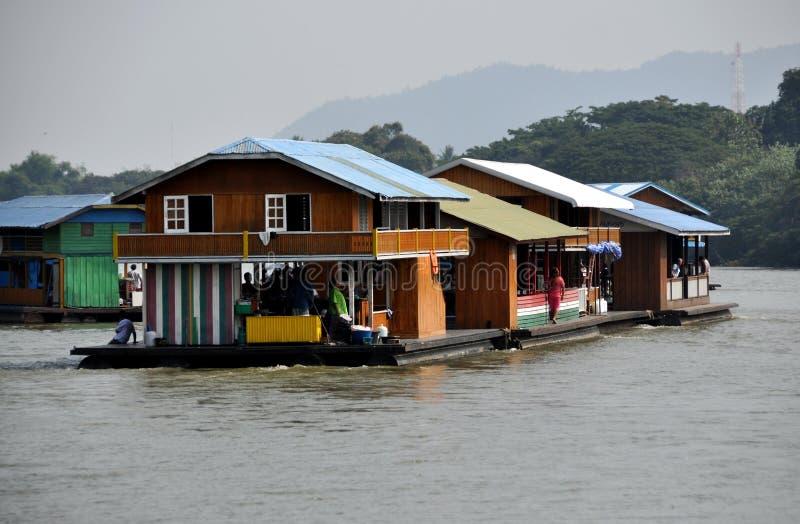 Kanchanaburi, Thailand: Houseboats On River Kwai Editorial Photo