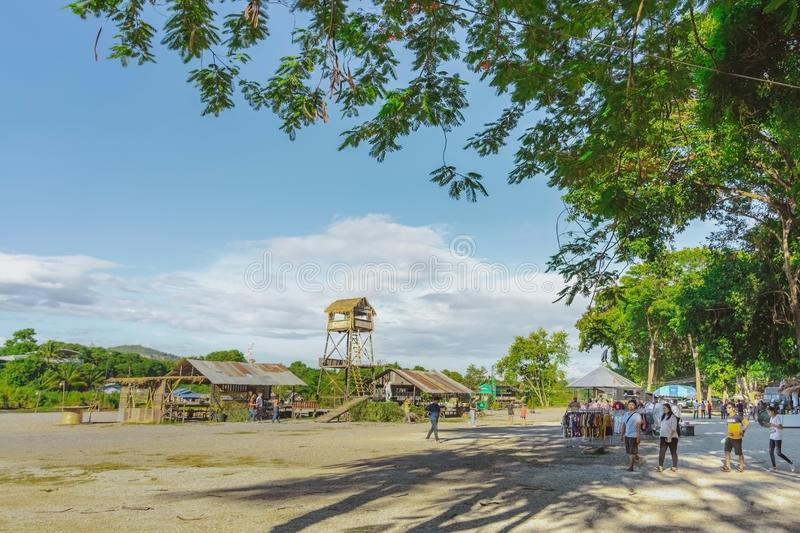 KANCHANABURI THAILAND-JULY 16,2019 : Handicrafts, homemade food, cotton clothes and more from local producers come to forming royalty free stock image