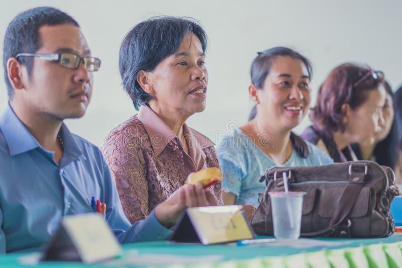 KANCHANABURI THAILAND - JUNE 1 : Unidentified teachers welcome t stock photos