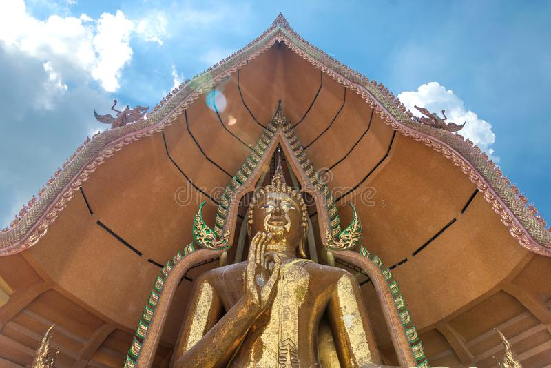 Big Buddha statue at Wat Tham Suea temple royalty free stock images