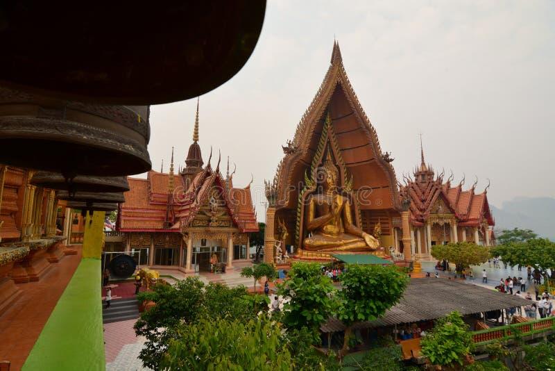 The Golden Buddha. Wat Tham Suea. Tha Muang district. Kanchanaburi. Thailand royalty free stock photos