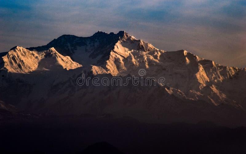 Kanchanjungha during golden hour. Snow, peak, landscape, nature, himalayan stock images