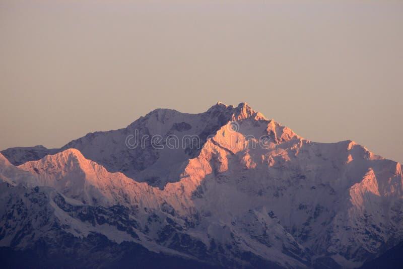 Kanchenjunga maximum det soluppgång fotografering för bildbyråer