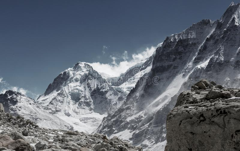 Kanchenjunga region zdjęcia stock