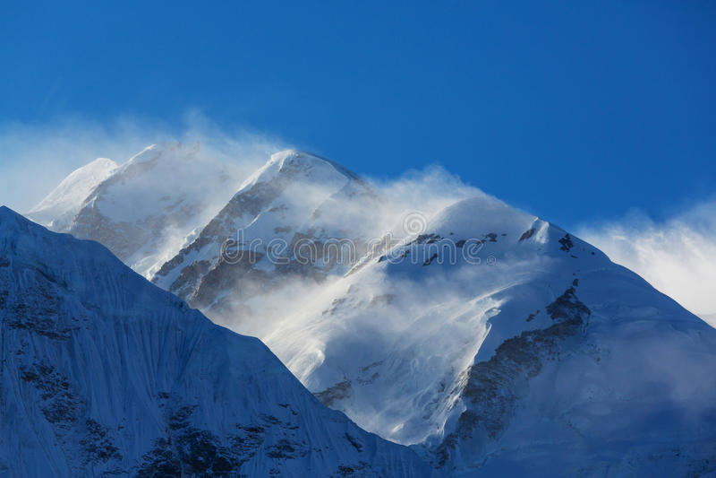 Kanchenjunga region. Scenic view of mountains, Kanchenjunga Region, Himalayas, Nepal royalty free stock photo