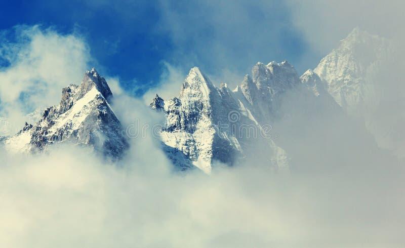 Kanchenjunga region. Scenic view of mountains, Kanchenjunga Region, Himalayas, Nepal stock photo