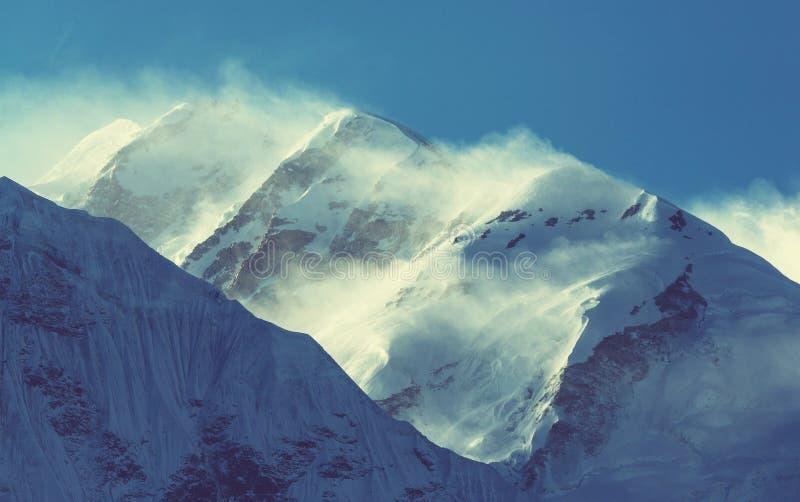 Kanchenjunga region. Scenic view of mountains, Kanchenjunga Region, Himalayas, Nepal royalty free stock images