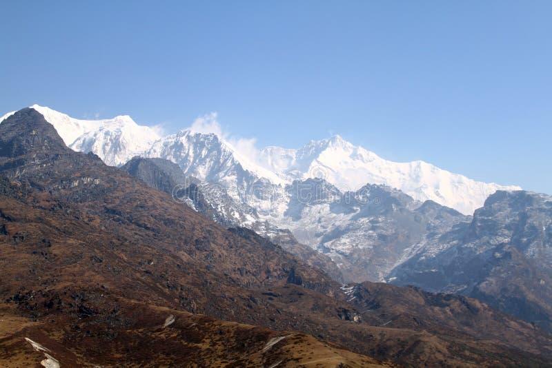 Kanchenjunga vanuit gezichtspunt royalty-vrije stock afbeeldingen