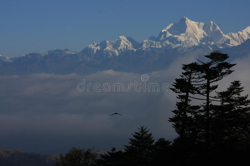 Kanchenjunga view stock photo