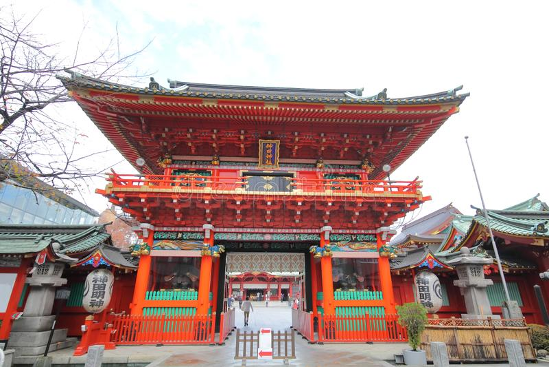 Kanda Myojin shrine Tokyo Japan stock photo