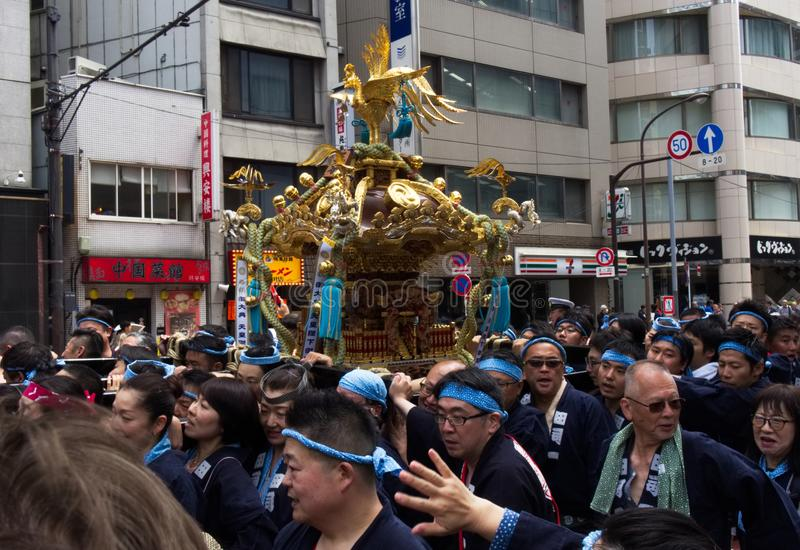 KANDA, TOKIO, JAPÓN - 12 DE MAYO DE 2019: Festival japonés Kanda Matsuri foto de archivo libre de regalías