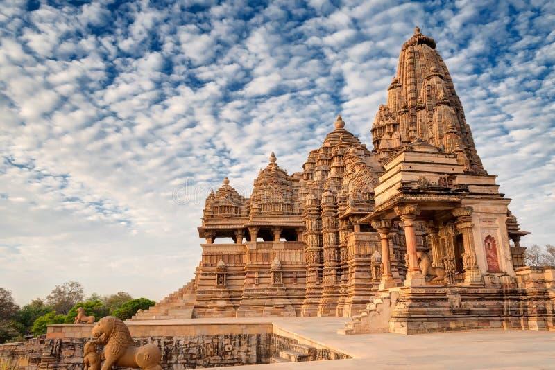 Kandariya Mahadeva寺庙,克久拉霍,印度联合国科教文组织世界遗产 免版税库存图片