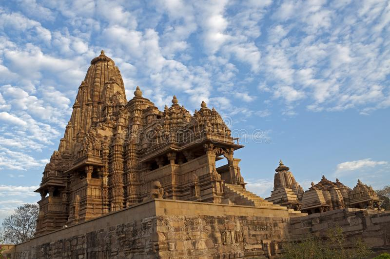 Kandariya Mahadeva Temple, dedicated to Shiva, Western Temples of Khajuraho, Madhya Pradesh, India - UNESCO world heritage site. royalty free stock image