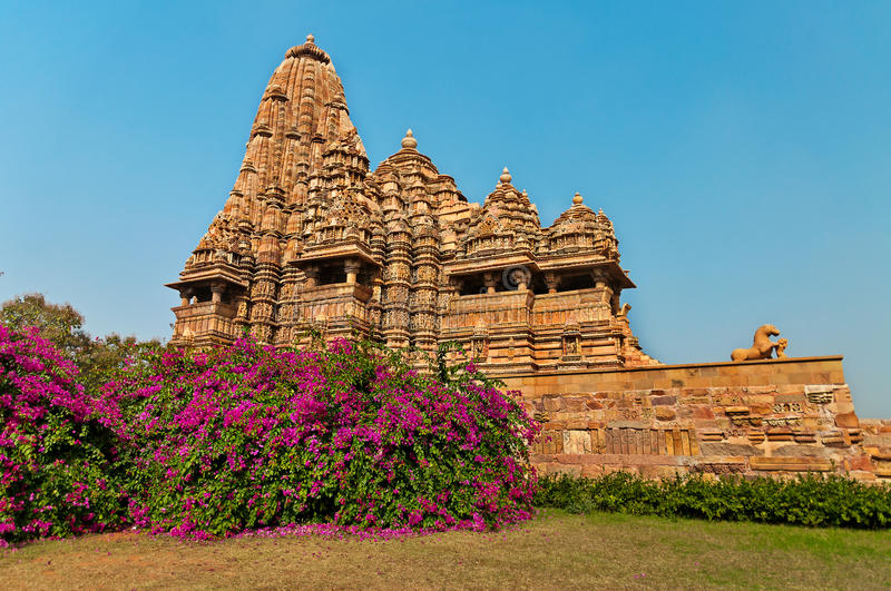 Kandariya Mahadeva temple in Khajuraho royalty free stock images