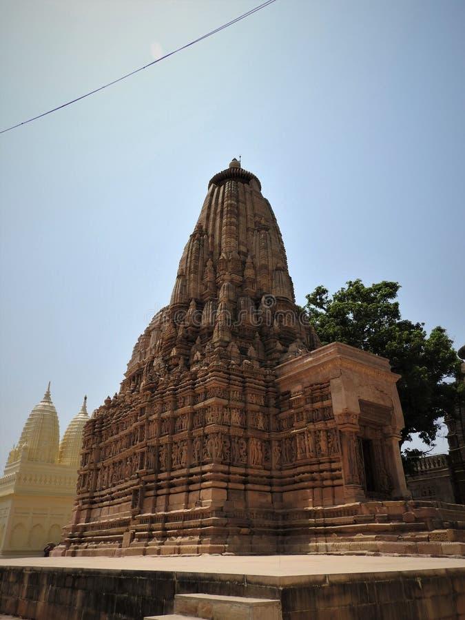 Kandariya Mahadeva Temple, Western Group of Temples, Khajuraho, Madhya Pradesh, India het is een UNESCO-werelderfgoedlocatie stock foto's