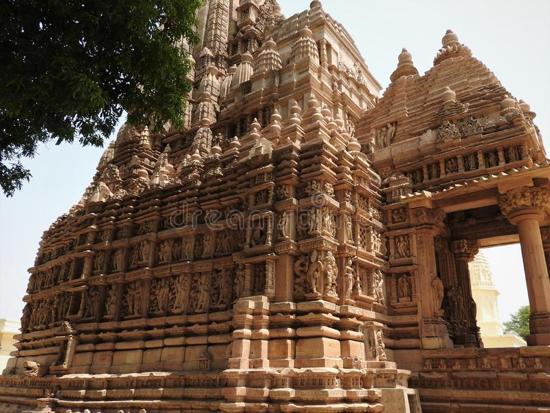 Kandariya Mahadeva Temple, Western Group of Temples, Khajuraho, Madhya Pradesh, India. it`s an UNESCO world heritage site stock image
