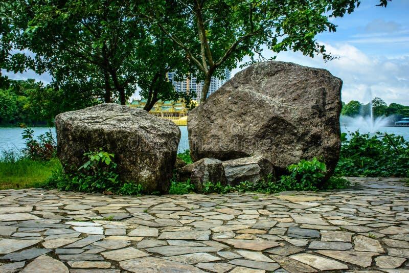 Kandawgyi drewna naturalny ogród, Yangon, Myanmar zdjęcia royalty free