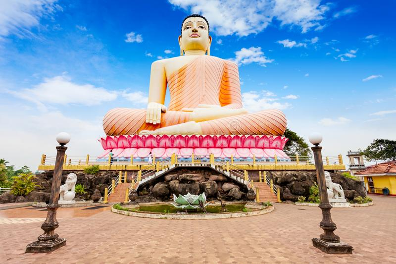 Kande Vihara寺庙,本托特 库存图片