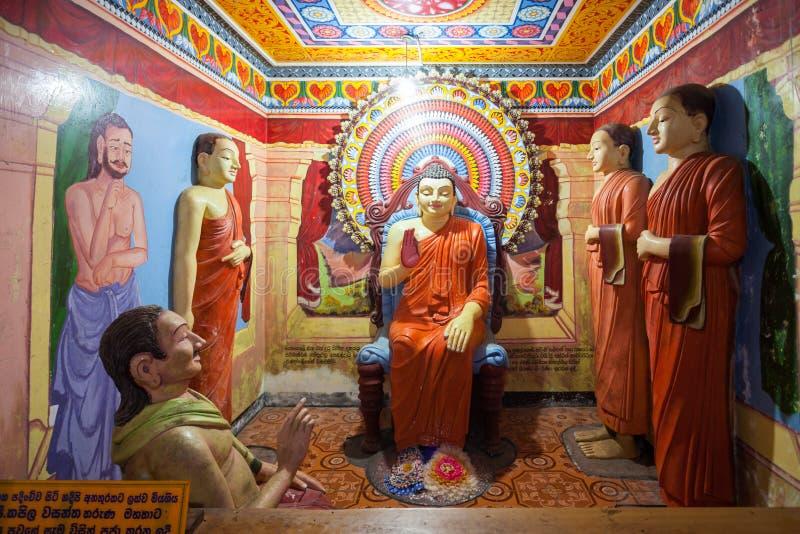 Kande Vihara寺庙,本托特 免版税图库摄影