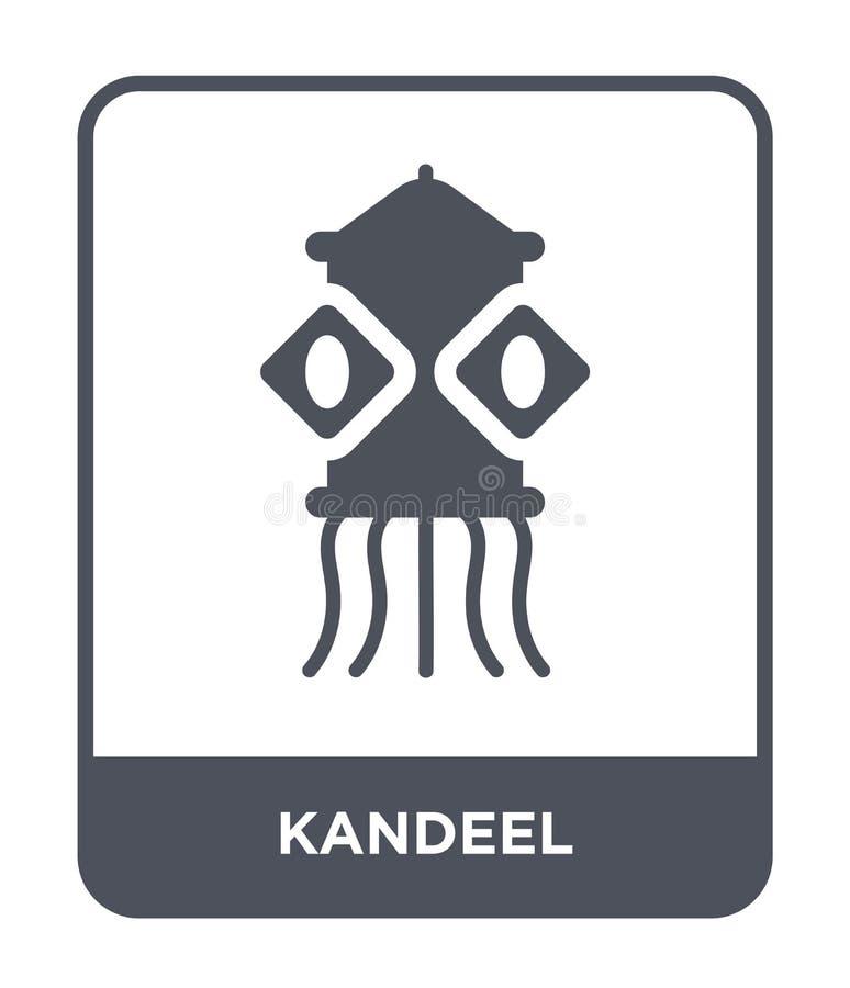 kandeel εικονίδιο στο καθιερώνον τη μόδα ύφος σχεδίου kandeel εικονίδιο που απομονώνεται στο άσπρο υπόβαθρο kandeel διανυσματικό  απεικόνιση αποθεμάτων