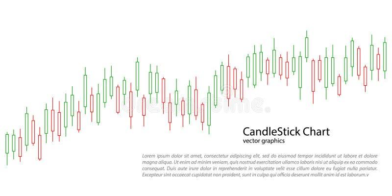 Kandelaargrafiek voor marktpresentatie, rapport, reclame Vector illustratie royalty-vrije illustratie