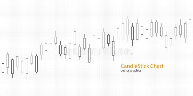 Kandelaargrafiek voor marktpresentatie, rapport, reclame Vector illustratie stock illustratie