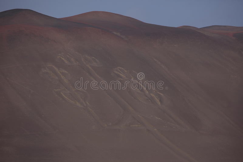 Kandelaber Paracas royaltyfri bild