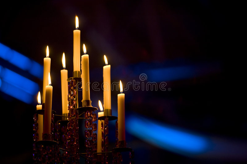 kandelabr świeczki obrazy stock