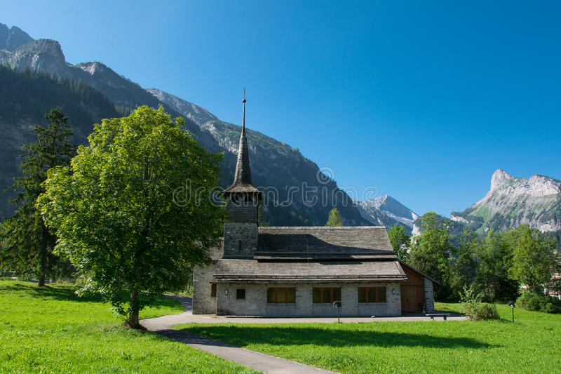 Kandersteg, die Schweiz stockbild