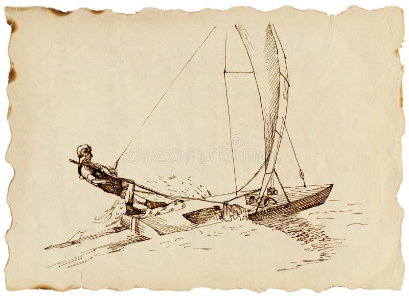 Kandidat - ein schnelles Segelboot vektor abbildung