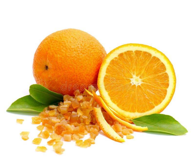Kandierte orange Schale lizenzfreies stockfoto