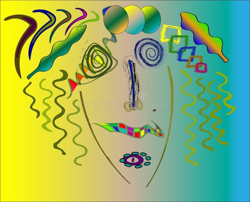 Kandinsky style abstract, marilyn monroe. vector illustration