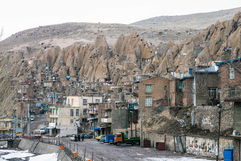 By Kandovan, Iran arkivbilder