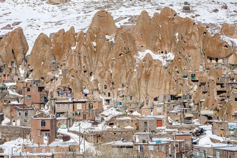 Kandovan vilage nära Tabriz arkivbild