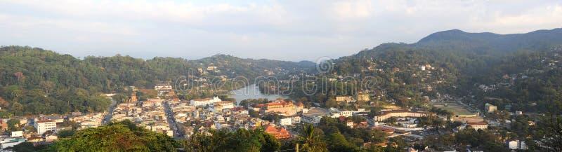 Kandy. Panorama of Kandy - ancient capital of Sri Lanka stock image